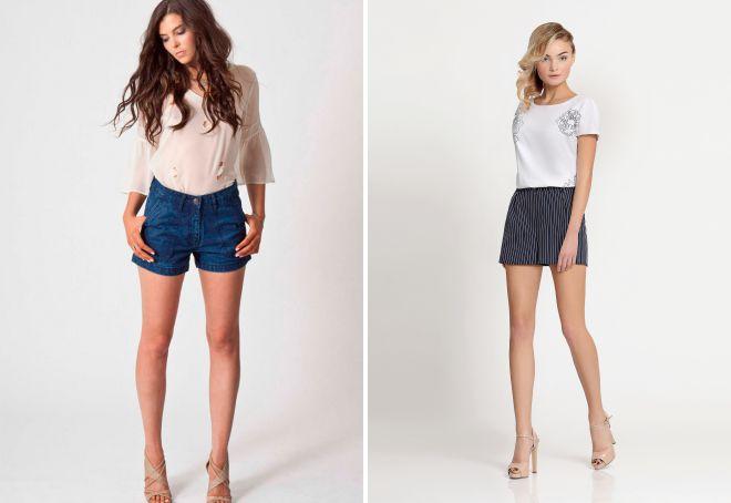 с чем носить женские короткие шорты