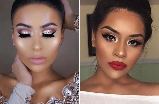 стильный свадебный макияж 2018