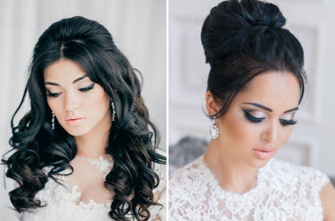 макияж невесты 2018 2019 для брюнеток