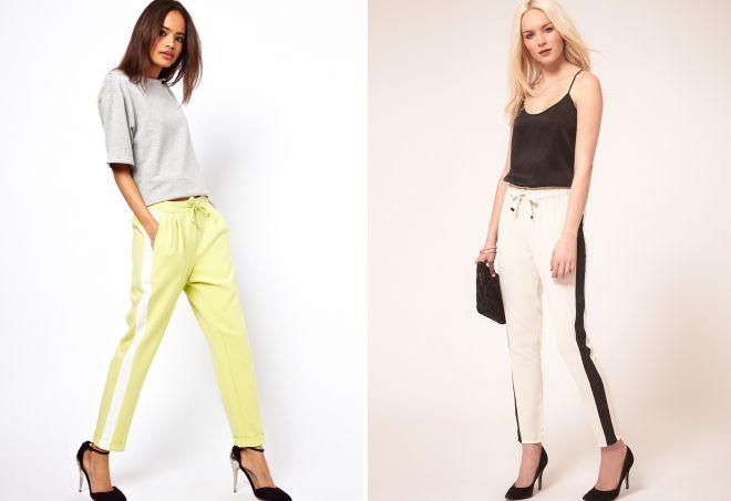 легкие брюки с лампасами
