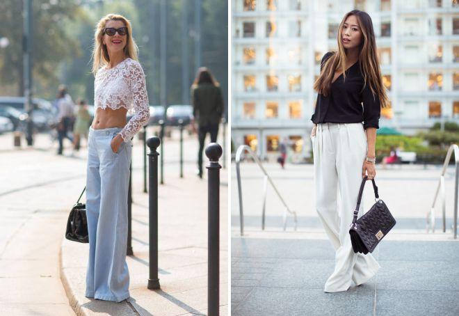 широкие легкие брюки