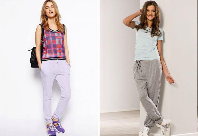 женские легкие спортивные брюки