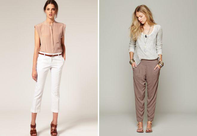 женские легкие брюки на лето