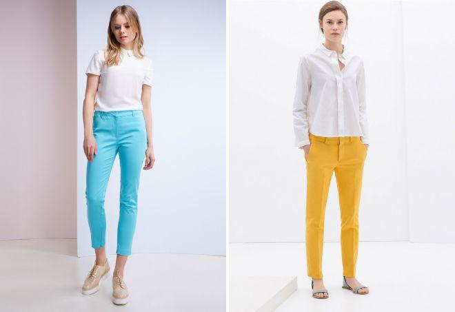 легкие женские брюки из тонкого хлопка