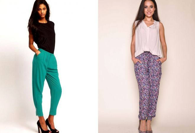 модели легких летних брюк