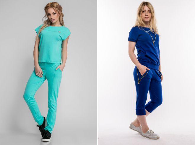 de03bb2762b2 Модные женские летние спортивные костюмы – классические, с бриджами ...