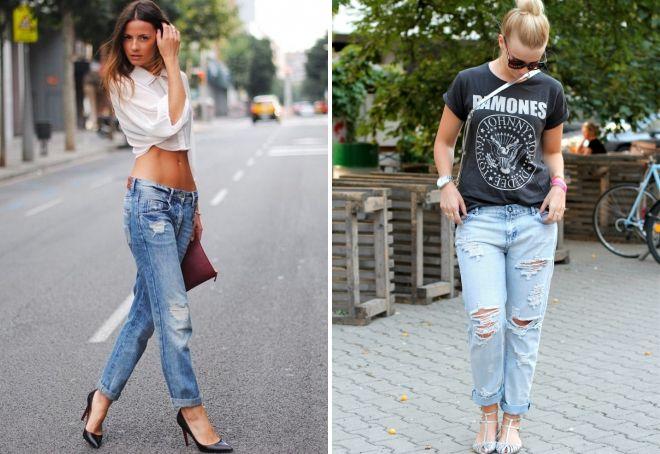 как подобрать джинсы-бойфренды