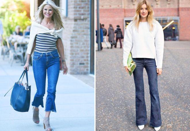 джинсы для типа фигуры треугольник