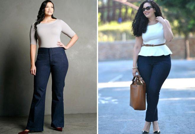 как подобрать джинсы по фигуре полным
