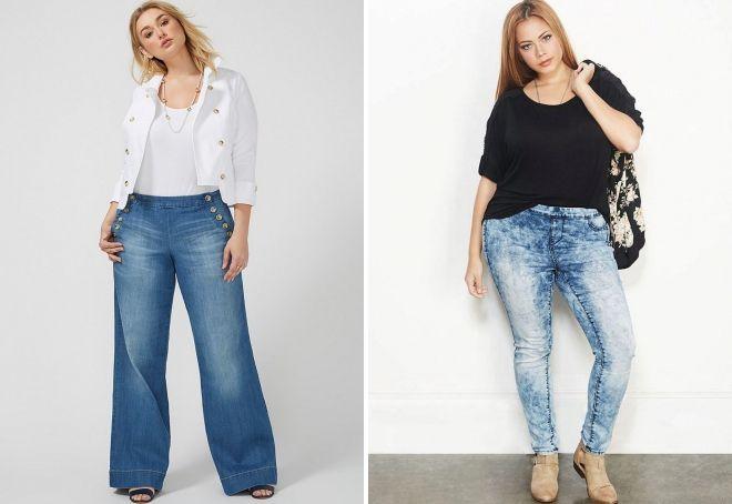 как выбрать джинсы для полных женщин