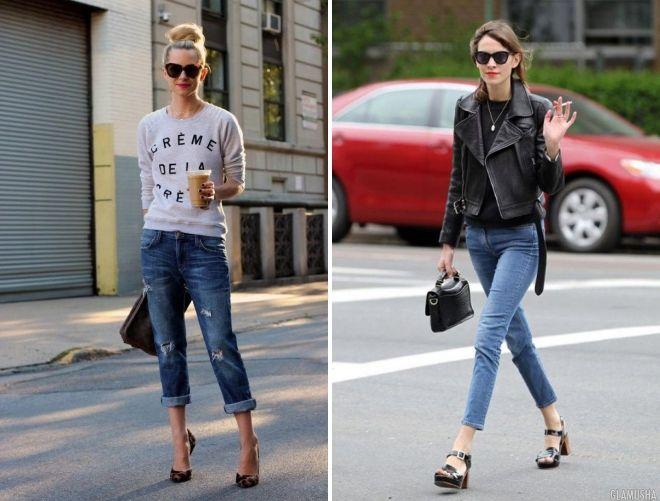 обувь под укороченные джинсы