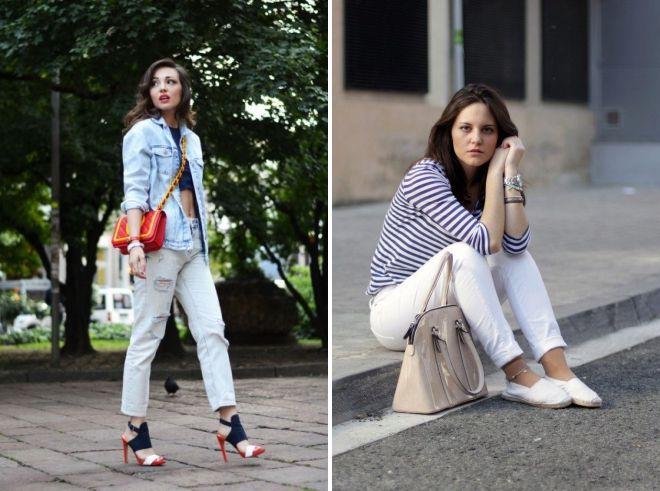 летняя обувь под джинсы
