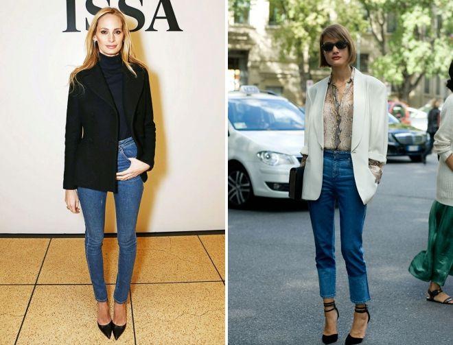 обувь под пиджак и джинсы