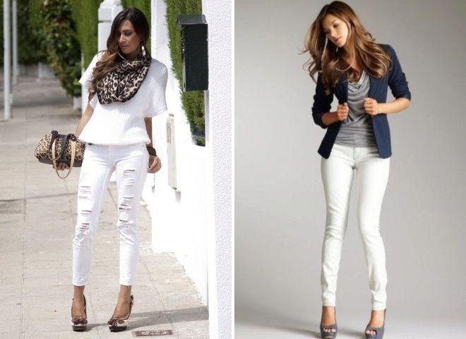 обувь под женские белые джинсы