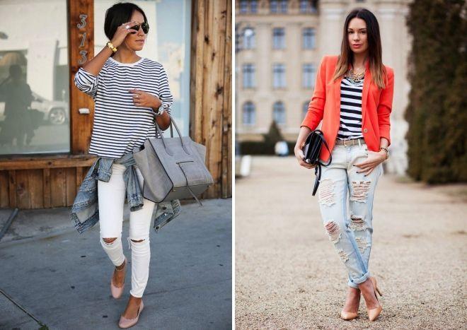 обувь под рваные женские джинсы