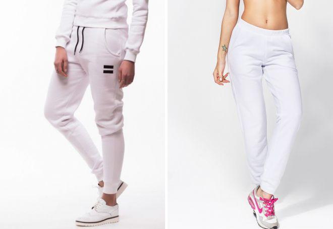 белые спортивные брюки