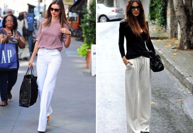 женские белые брюки 2018