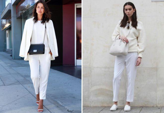 луки с белыми брюками для женщин