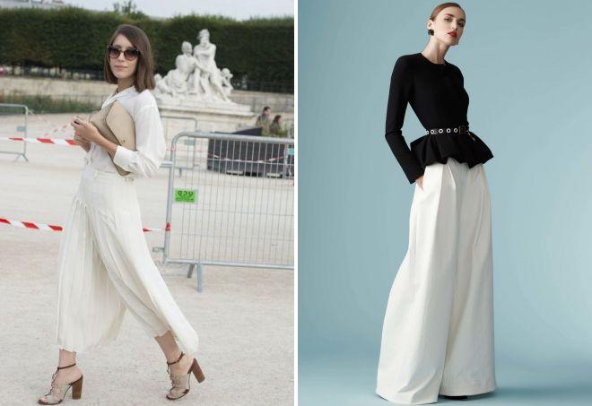 белые юбка брюки