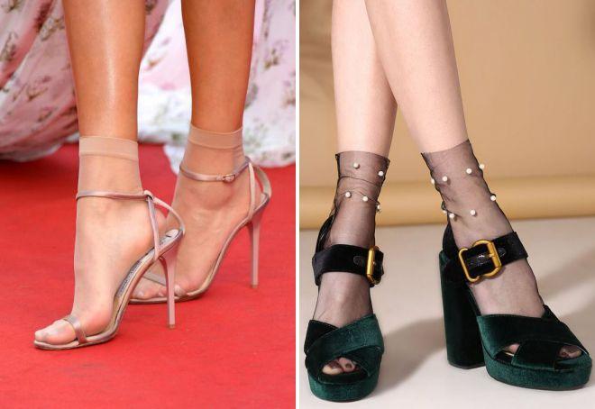 najlonske čarape ispod sandala