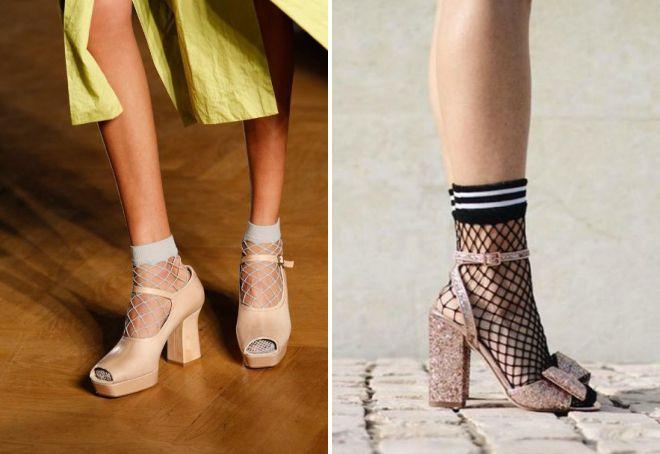 sandale sa čarapama u mreži
