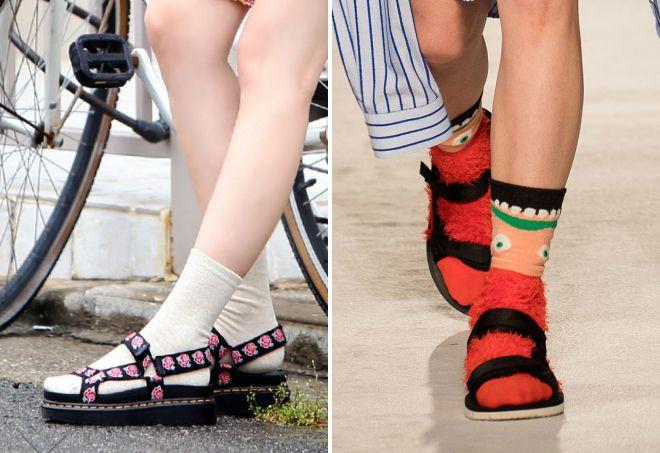 ravne sandale sa čarapama