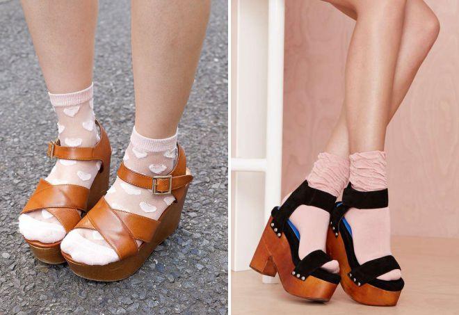 sandale na platformi sa čarapama