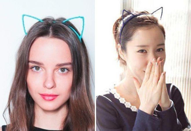 ободок для волос с ушками кошки