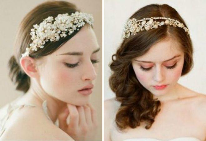 свадебные ободки для волос