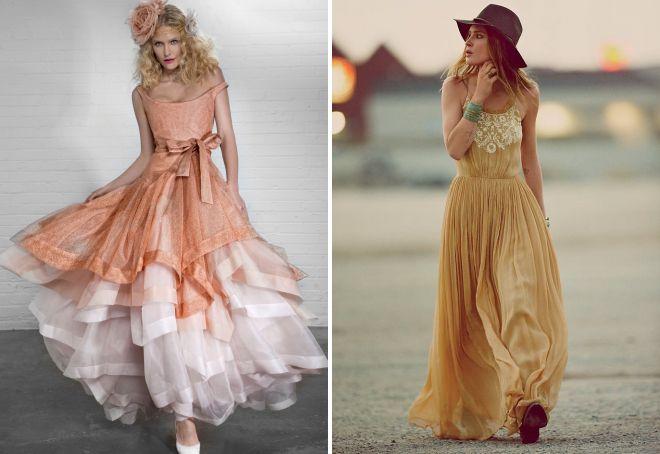 нарядные платья бохо