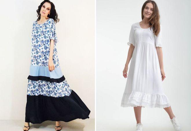 платья из штапеля в стиле бохо