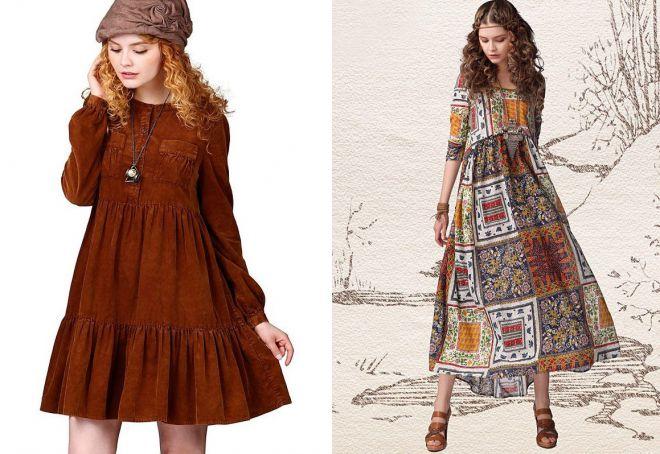 платья бохо с завышенной талией