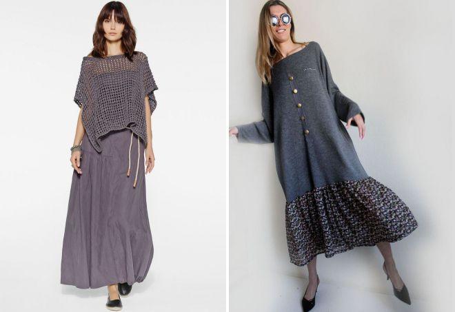 трикотажные платья бохо
