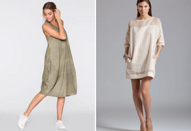 льняное платье туника
