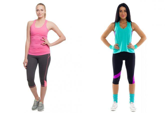 женские бриджи для фитнеса