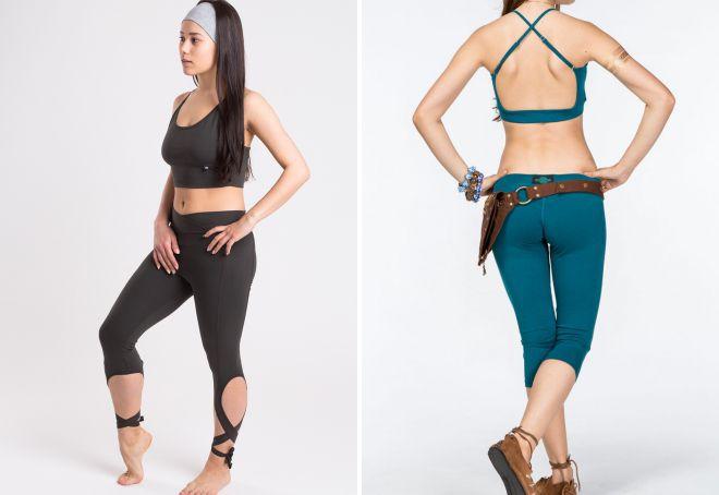 женские бриджи для йоги