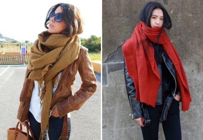 косуха с шарфом