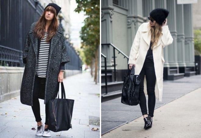 шапка к пальто оверсайз