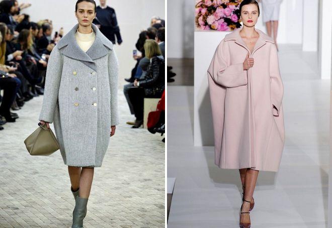 модные луки с пальто оверсайз