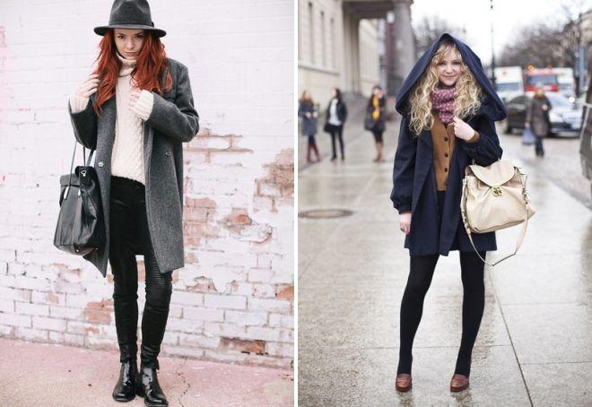 с какой обувью носить пальто оверсайз