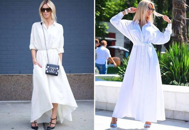 525ea45b20a Стильное белое платье в пол – трикотажное