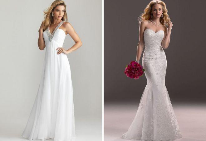 вечерние белые длинные платья