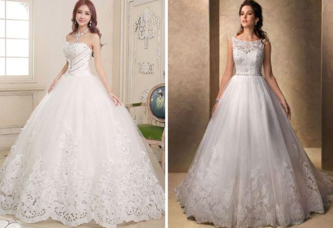 красивое длинное белое платье