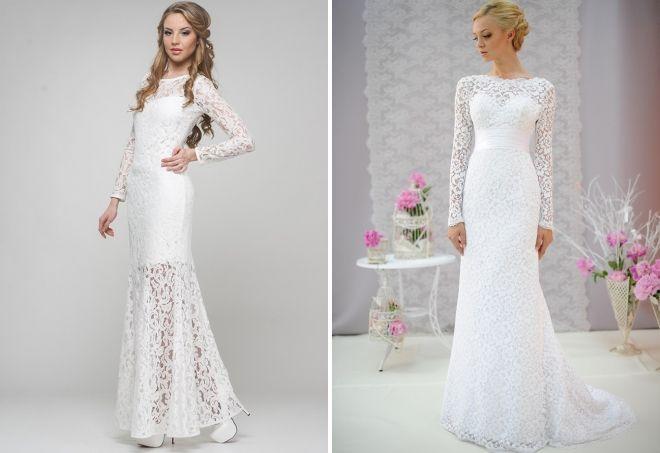 белое гипюровое платье в пол