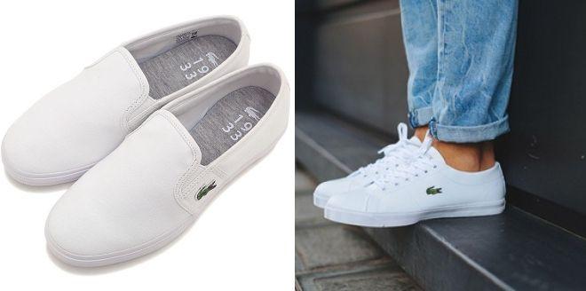 ccbe1c5ebe0 Deslizamento branco - sapatos da moda para a melhor aparência da cidade.