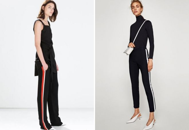 брюки с лампасами Zara