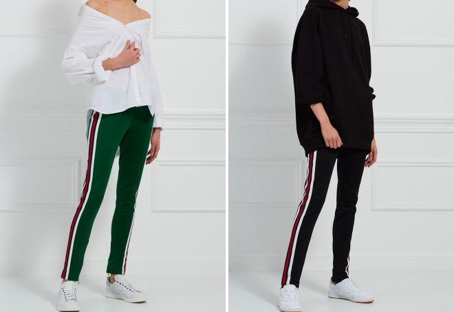 брюки с лампасами Гуччи