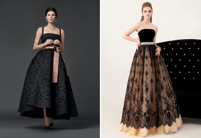 пышные длинные вечерние платья