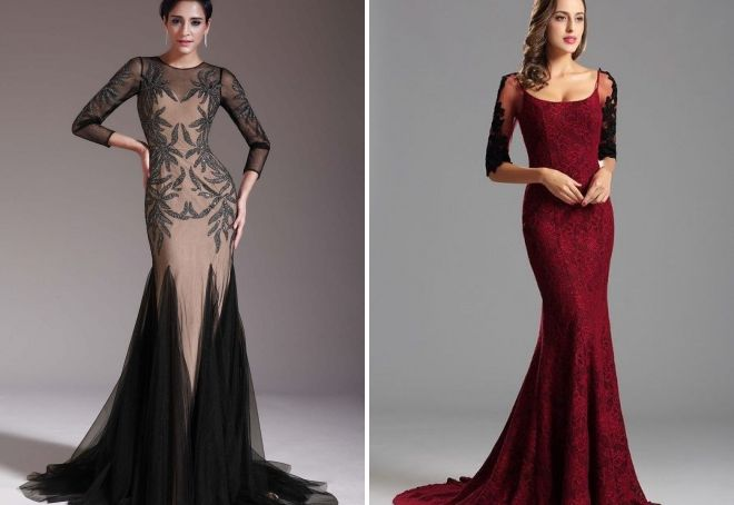 длинные вечерние платья 2018 2019