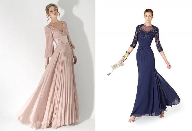 модные вечерние длинные платья